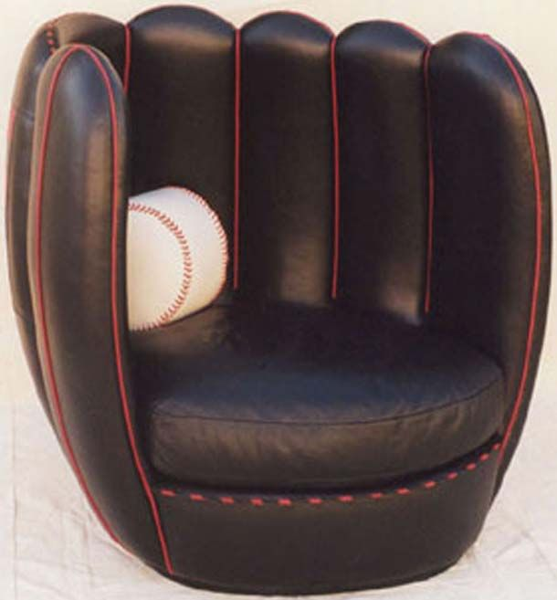 Baseball Glove Chair  Home  Pinterest  Gloves Room and