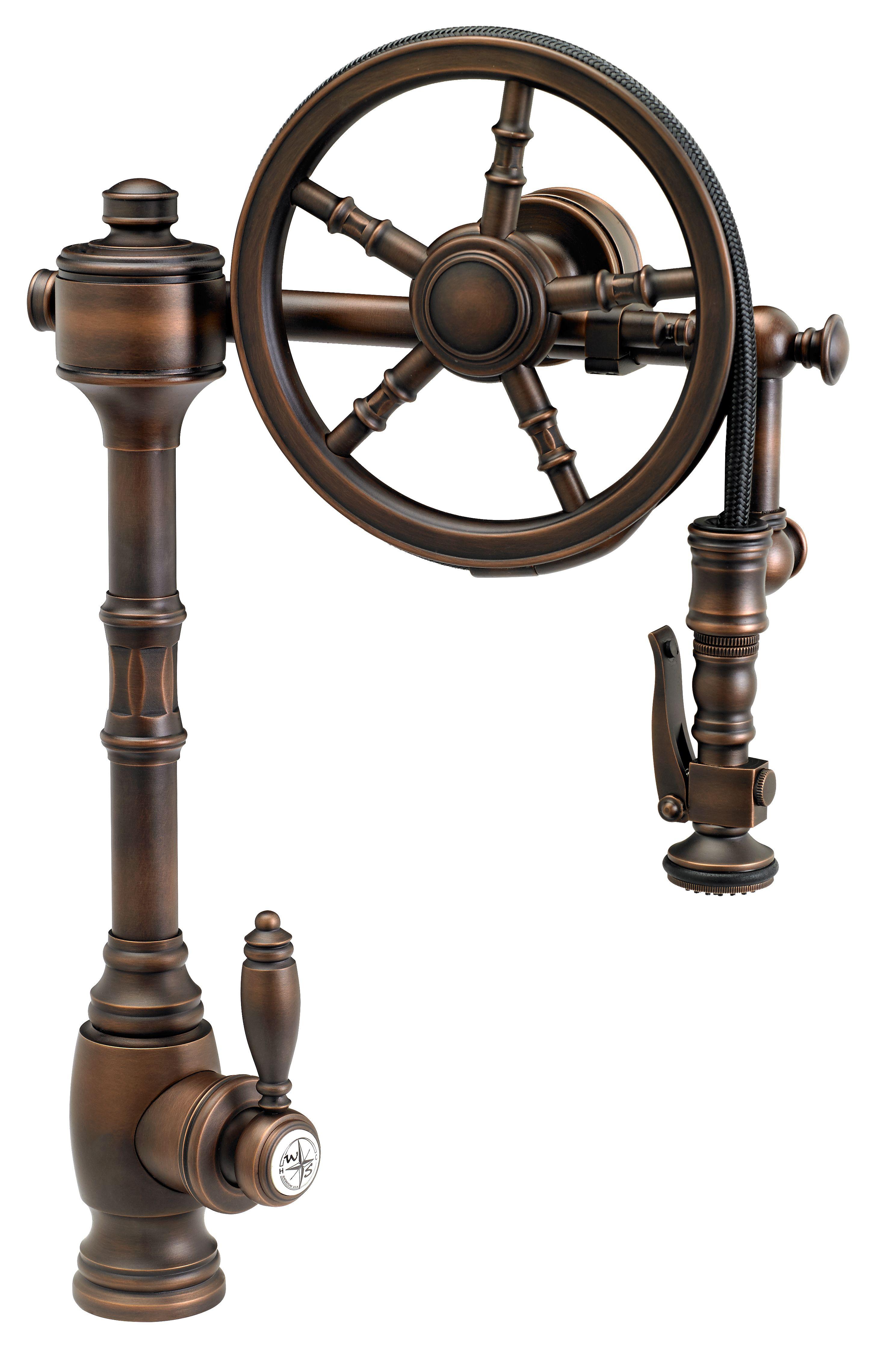 bronze pull down kitchen faucet modern hardware waterstone wheel pulldown 5100 finish is