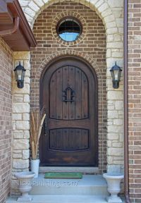 rustic exterior doors arched round top in knotty alder ...