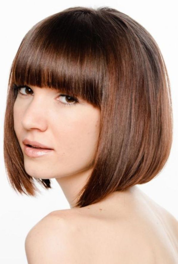 Short Angled Bob Hairstyles With Bangs Hair DOs!!! Pinterest