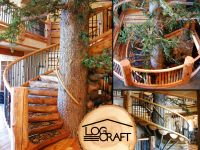 Amazing Tree Trunk Spiral Staircase | Cosy Canadian Home ...