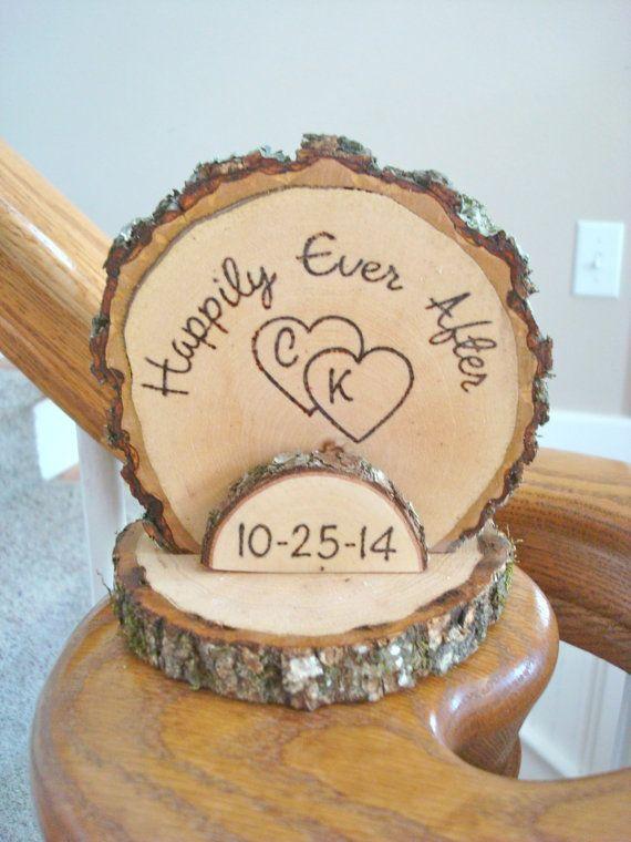 Rustic Wood Grain Wedding Invitations