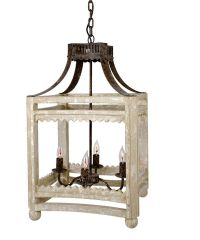 Farmhouse Lantern | Hanging light fixtures, Lights and Iron