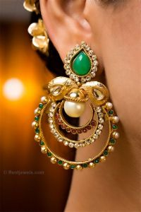 lovely bridal earrings indian jewelry | #Weddings and # ...