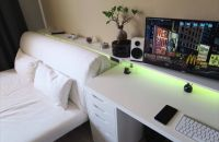 Bedroom gaming setup | Tech | Pinterest | Gaming setup ...