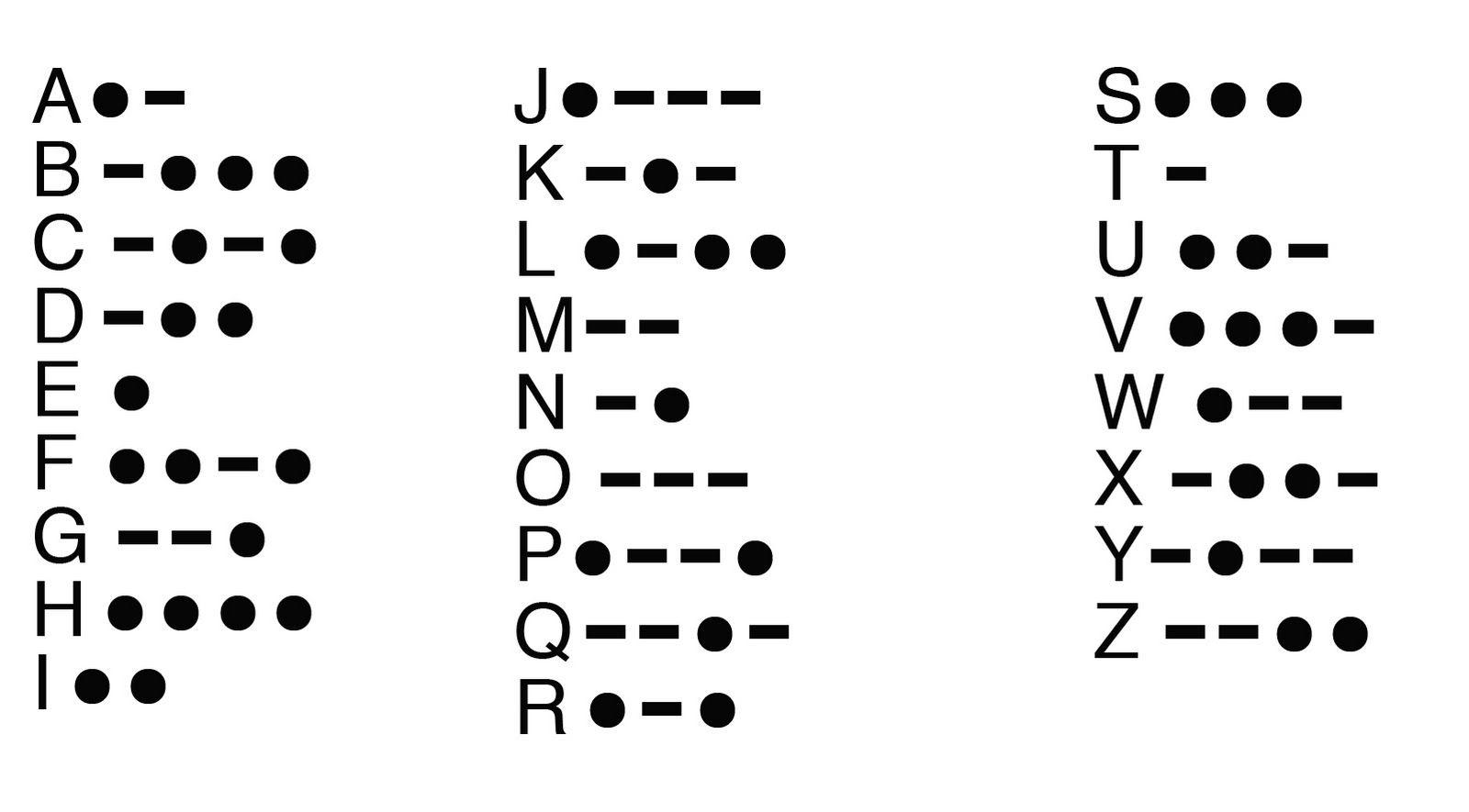 Morse Code Message