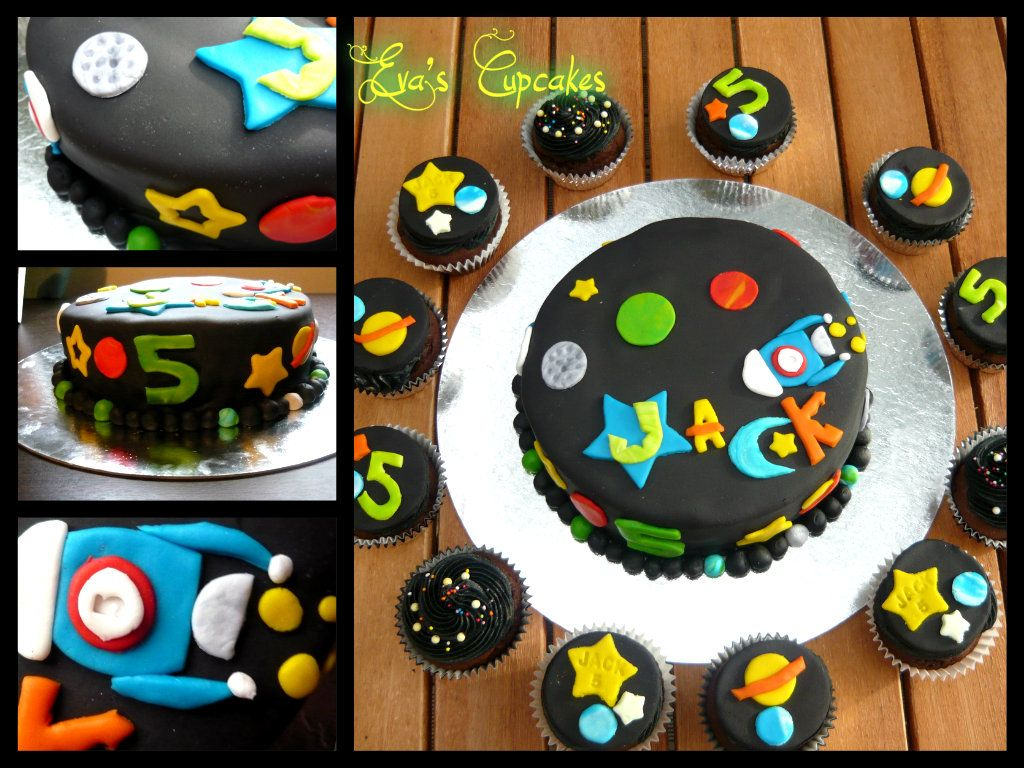 Outer Space Cake And Cupcakes