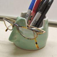 This handmade eyeglass holder pencil holder is a fine ...