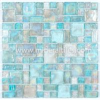 Mineral Tiles - Iridescent Glass Mosaic Tile Clear Random ...