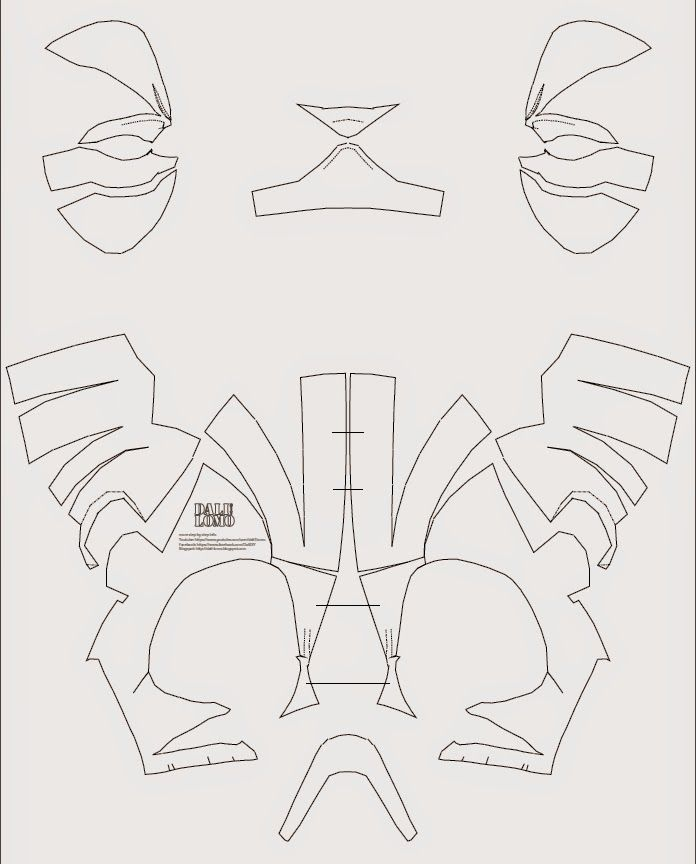 Dali-Lomo: Deadpool Semi-Rigid Costume Mask DIY (PDF