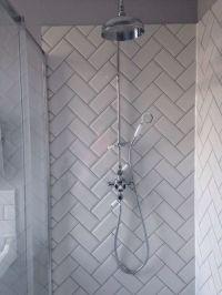 Herringbone metro tiles | Bathroom | Pinterest | Metro ...