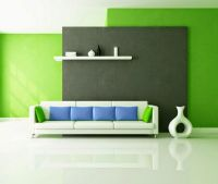 living room color schemes ideas, green wall paint, blue ...