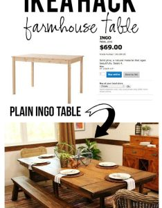 Farmhouse dining table ikea hack also best images about home improvements on pinterest hacks how rh