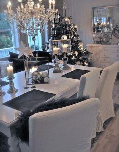 Black white also unplannedmix decoration pinterest christmas interiors grey rh