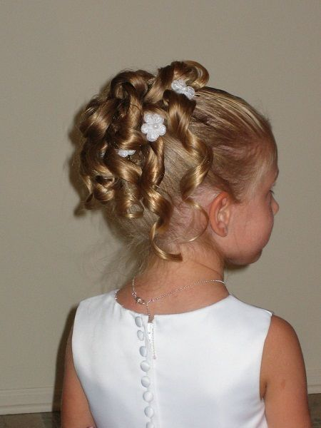 Flower Girl Hairstyles Updo Image Flower Girl Hairstyles Updo For