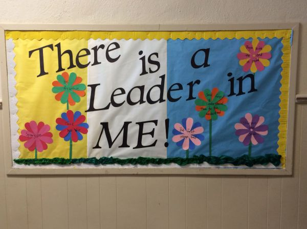 Leader In Bulletin Board. 7 Habits Listed