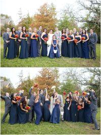 Dallas wedding photographer, bridal party, navy bridesmaid ...