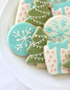 The best sugar cookie recipe plus some other christmas yummies moss green with white garland and pastel baubles also craftiness is not optional box recipes rh pinterest
