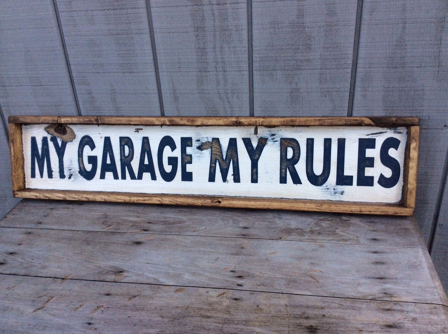 My Garage My Rules Sign Man Cave Sign Garage Sign CUSTOM