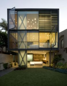 Various texture and lines part of interior window treatment glen irani architects have designed the hover house located on venice canals los also amazing design with beautiful lighting for home pinterest rh