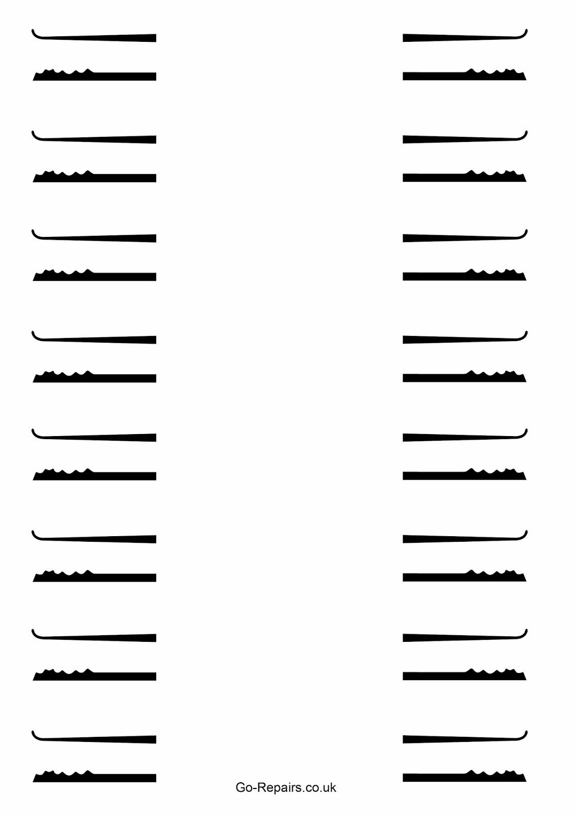 Free Lock Pick Templates