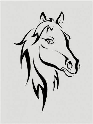 Stencil, horse head image is 4.5 x 6.5