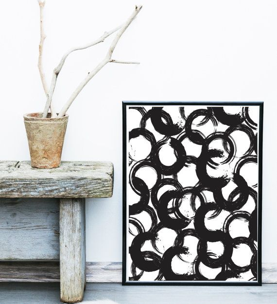 Black and white art abstract print watercolor giclee scandinavian minimalist poster wall decor also rh pinterest