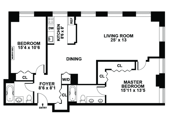 Garage Conversion To 2 Bedroom Home Apartment Floor Plans House Designs