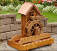 Wooden Water Wheels For Sale | Amish Water Wheel Fountain ...