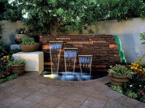 15 Unique Garden Water Features Gardens Backyards And In The Light
