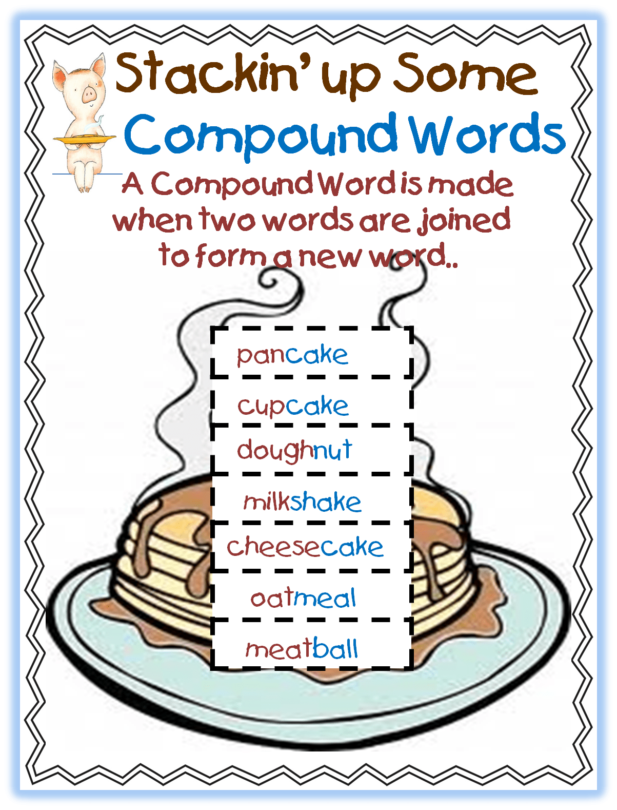 Compoud Word Mini Unit Using Laura Numeroff S If You