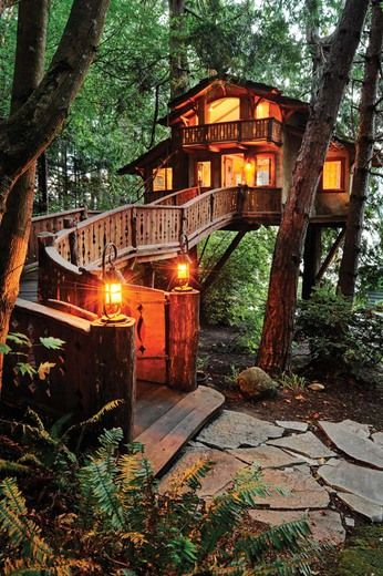 20 Tree House Design Ideas To Fill Backyards With Fun Treehouse