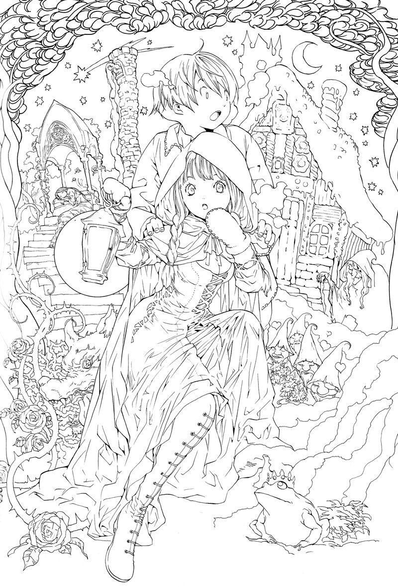 Fairy Tale Coloring Pages Printable Coloring Pages-949