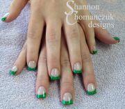 custom mixed green glitter acrylic