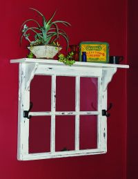 this old window frame topped by a shelf would be great to ...