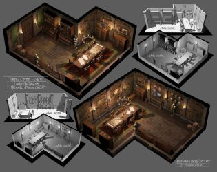 Medieval Meeting Room Concept Art