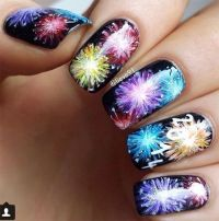 4th of July Fireworks Nail Art Designs | 4th of July ...
