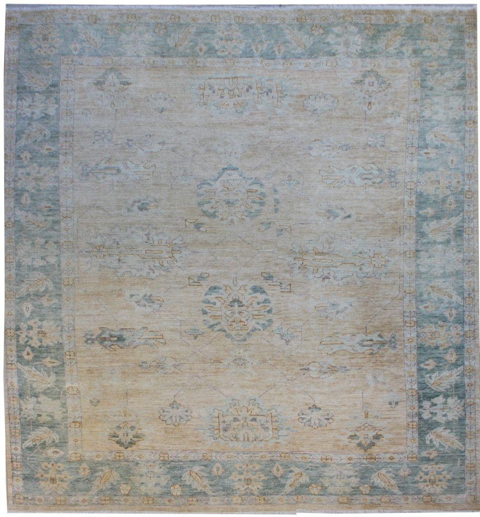 Faded oushak 9x12 rug
