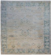 Faded oushak 9x12 rug