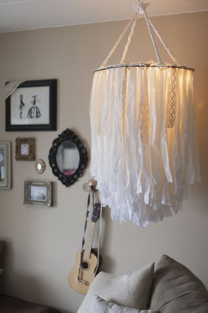 Diy Cloth Chandelier Would Be So Sweet Over A Nursery Glider