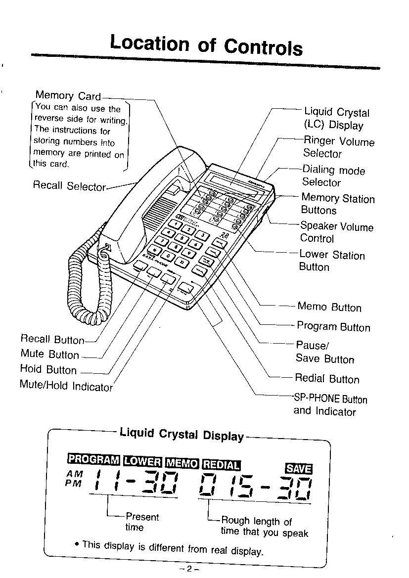 Panasonic easa phone kx t2365 user manual