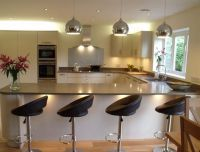 U Shaped Kitchen Designs With Breakfast Bar