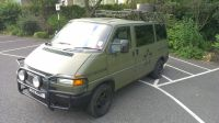 VW T4 short nose with custom bumper and roof rack | Small ...