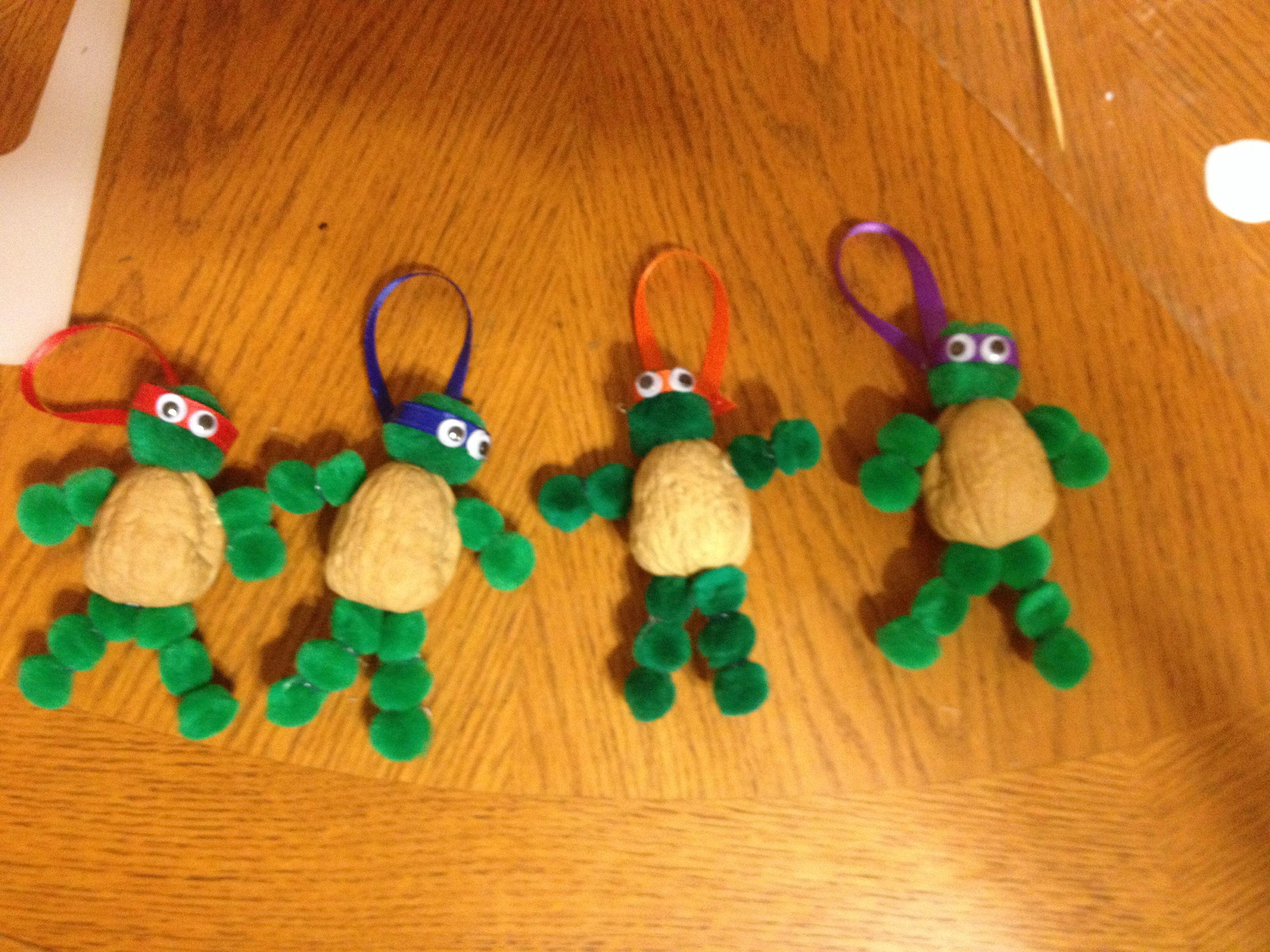 Teenage Mutant Ninja Turtle Ornaments Just Finished Making