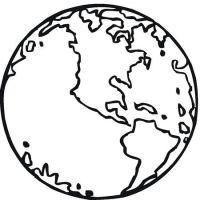 La bola del mundo para colorear