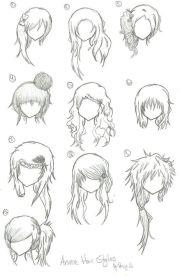 hairstyles - anime manga drawing