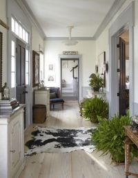 Grey trim with white ceiling and cream walls... For entry ...