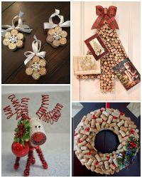 Wine Cork Christmas Craft Ideas | Cork, Wine and Cork crafts