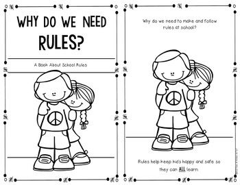 School Rules {Social Studies Reader} for First Grade