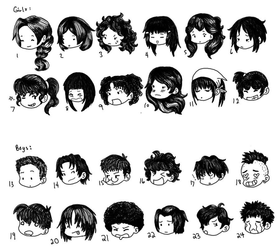 Chibi Hair Styles By SuperCatGirl Deviantart Com On DeviantArt